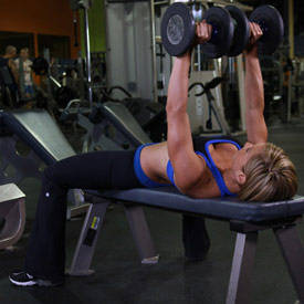 Dumbbell flat bench press