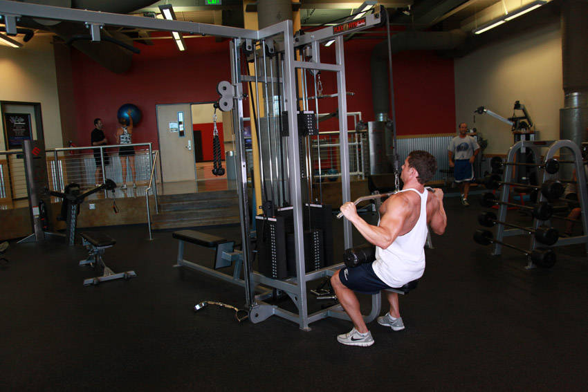 Wide-Grip Lat Pulldown image