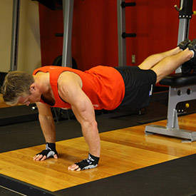 Push-Ups With Feet Elevated image
