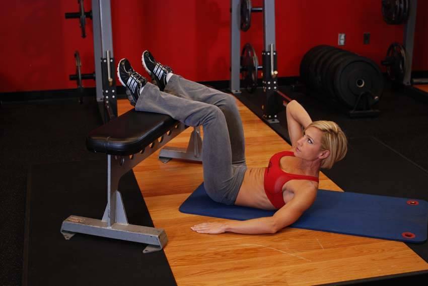 Oblique Crunches Exercise Oblique Crunche...