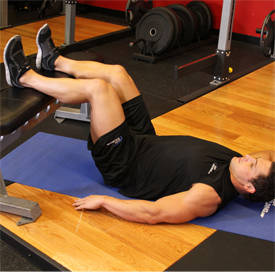 Oblique crunch on bench