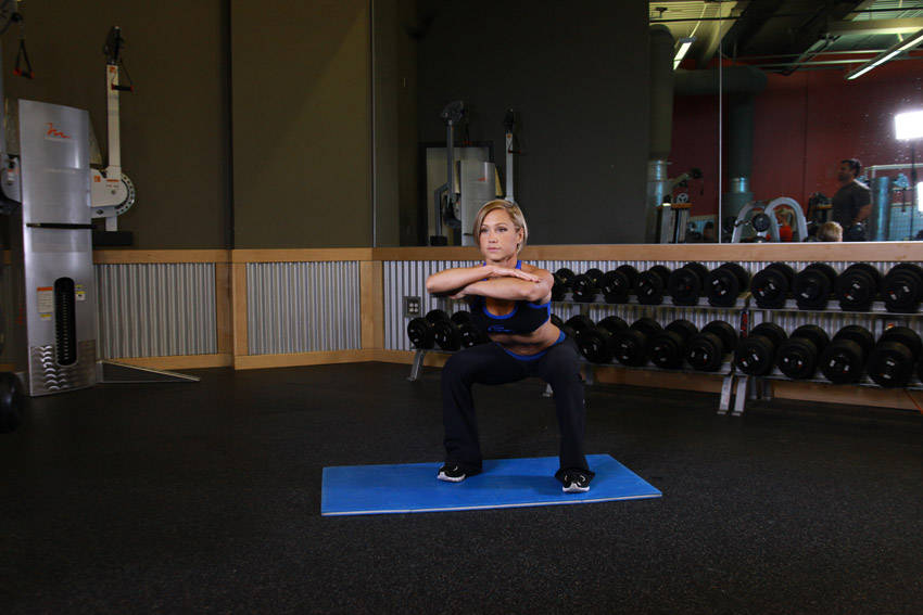 Jump Squats (with dumbbell)