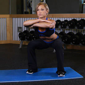 Squat jump or barbell squat