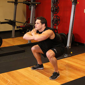 Bodyweight jump squat