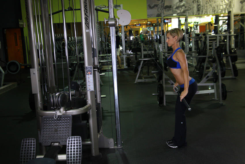 Cable Straight Arm Pulldowns