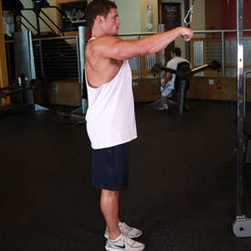 Straight-arm pull-down