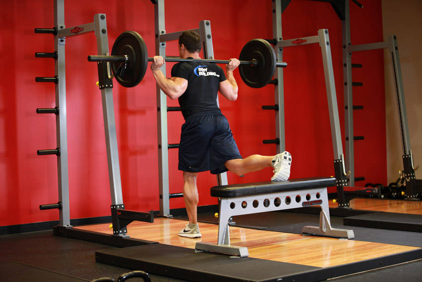 One Leg Barbell Squat Exercise Guide and Video