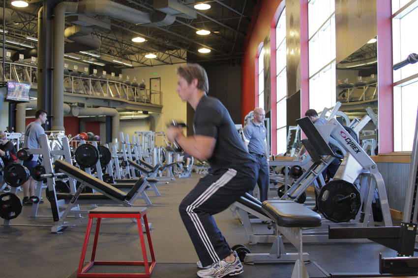 Dumbbell Seated Box Jump Exercise Guide And Video