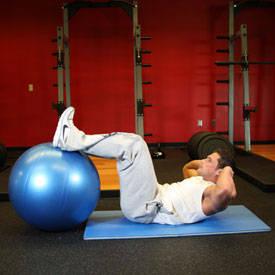 Crunch - Legs On Exercise Ball