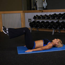 Reverse crunch on stability ball