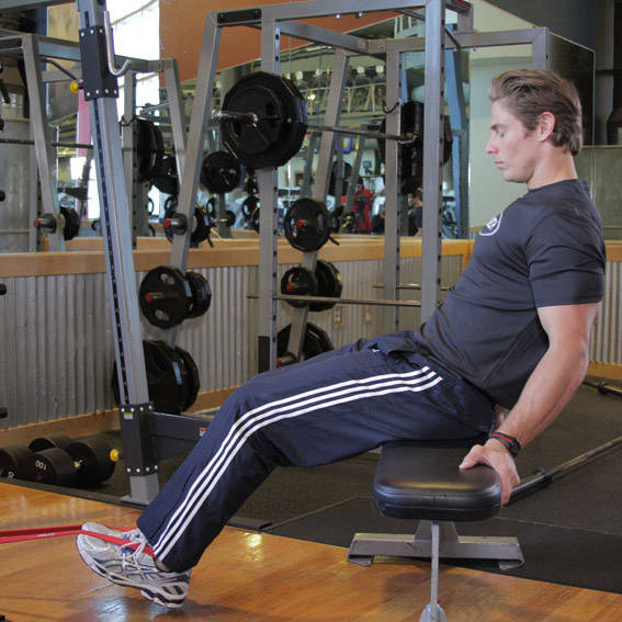 Seated Band Hamstring Curl
