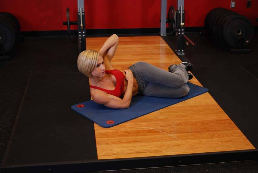 Oblique Crunches Exercise Click to enlarge