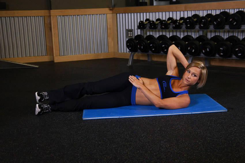 Oblique Crunches Exercise Side Jackknife Exercis...
