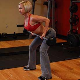 Barbell row (overhand grip)
