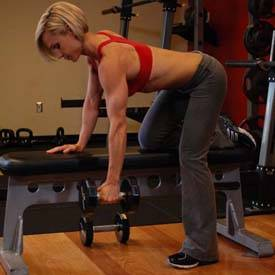 Bent-over single-arm dumbbell row