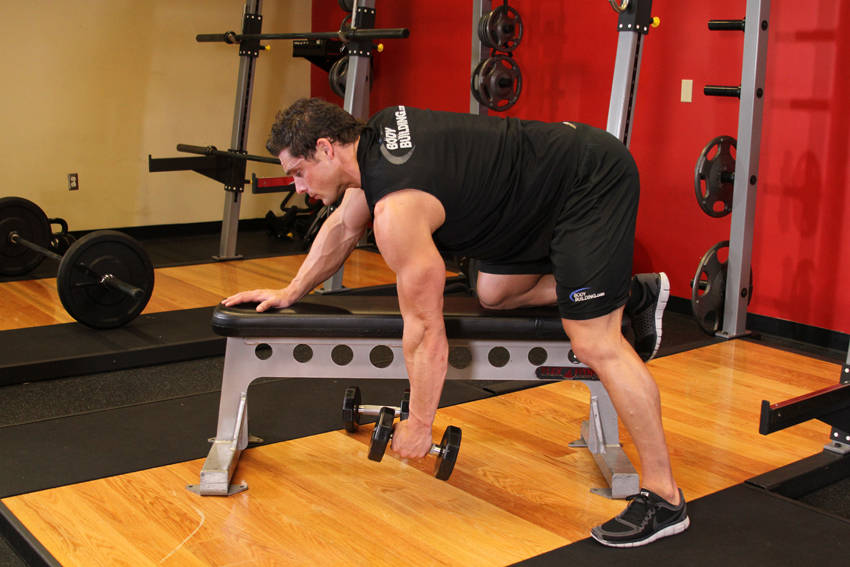 One arm dumbbell row exercise guide and video for Floor underhand cable fly