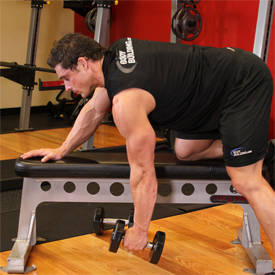 Single-arm dumbbell curl