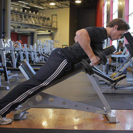 Dumbbell Incline Lever Pull