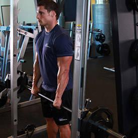 Smith machine single-arm shrug