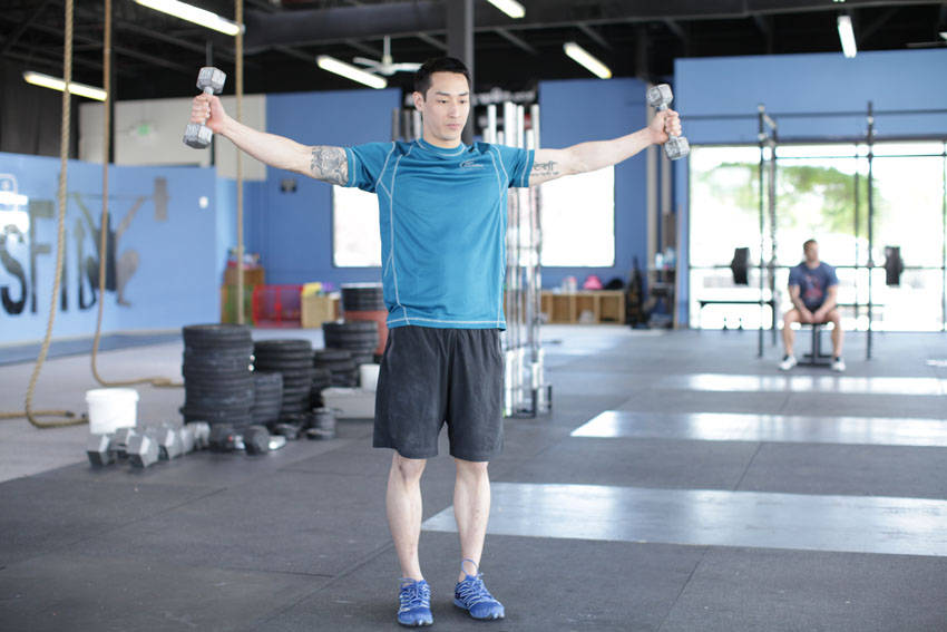 Dumbbell Scaption image