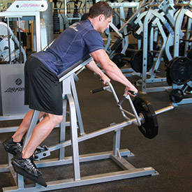 T-bar chest-supported row