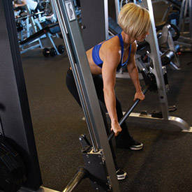 Bent Over Two Arm Long Bar Row Exercise Guide And Video