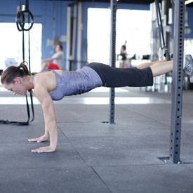Side plank hold with dips