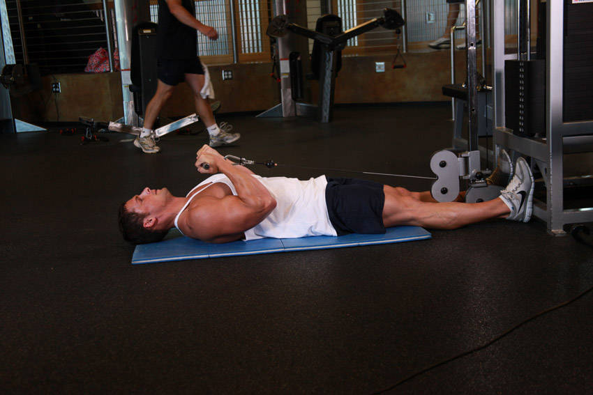 Lying Cable Curl Exercise Guide And Video