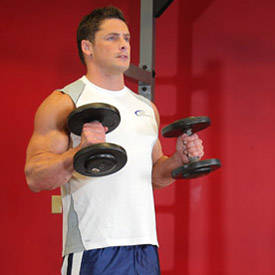 Dumbbell hammer curl or reverse curl