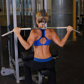Wide-Grip Pulldown Behind The Neck