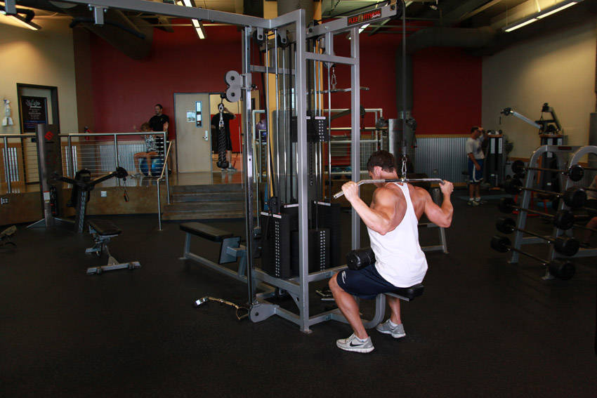 Wide Grip Underhand Cable Pulldown Earn your wings with this massWide Grip Underhand Cable Pulldown