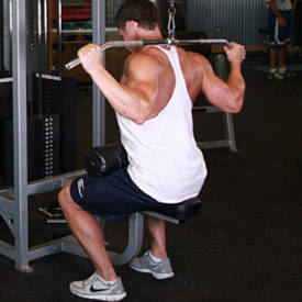 Behind-the-neck lat pull-down