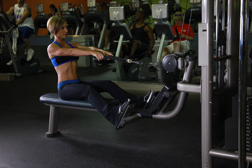 Low Pulley Row To Neck Exercise Guide and Video