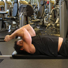 Lying Cable Triceps Extension