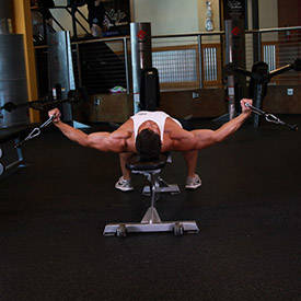 45-degree cable chest fly