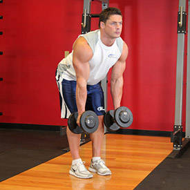 Bent Over Two-Dumbbell Row With Palms In image