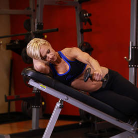One-Arm Incline Lateral Raise