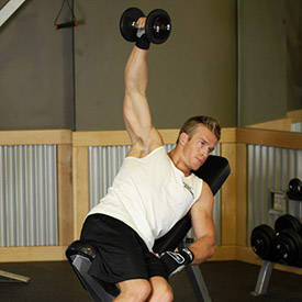 Single-arm dumbbell lateral raise
