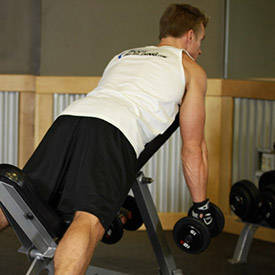 Bent-over trap row