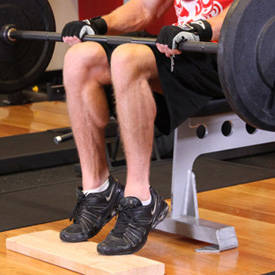 Barbell Seated Calf Raise