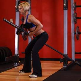 Bent Over Two-Arm Long Bar Row