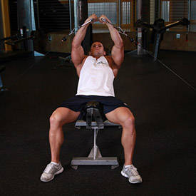 Incline-bench cable fly