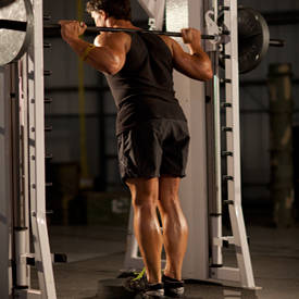 Smith machine calf raise