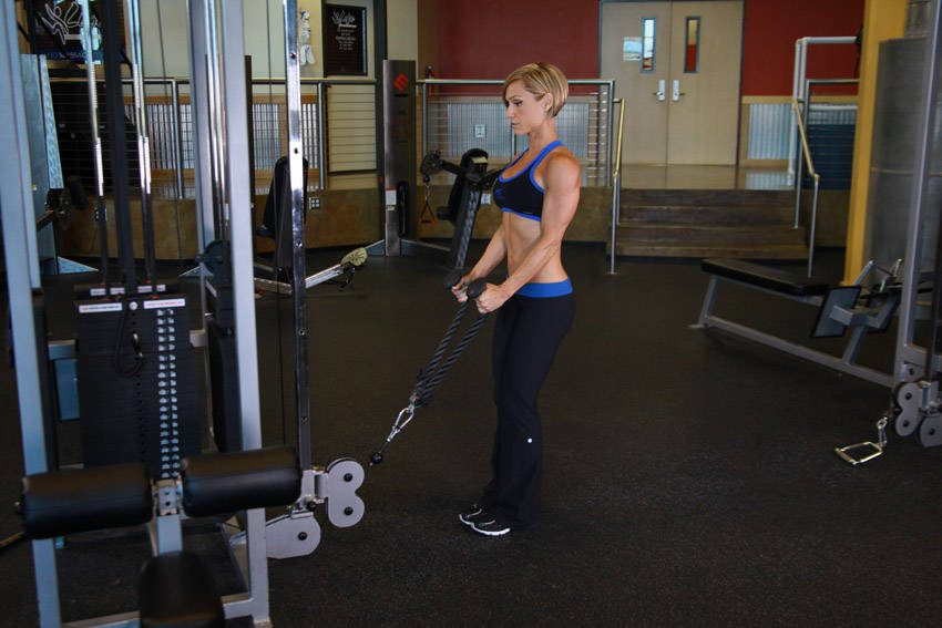 Rope Pulley Curls : Cable hammer curls rope attachment exercise guide and