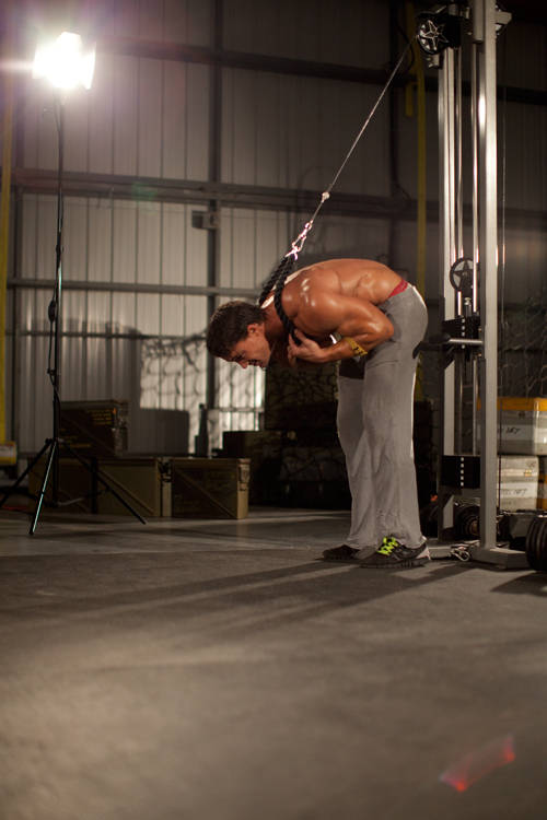 Standing Rope Crunch Exercise Guide And Video