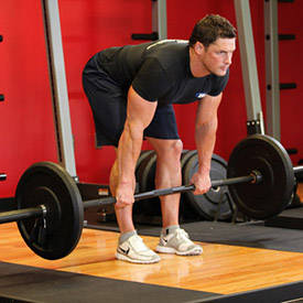 Stiff-legged deadlift (no warm-up)