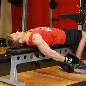 Lying Supine Dumbbell Curl
