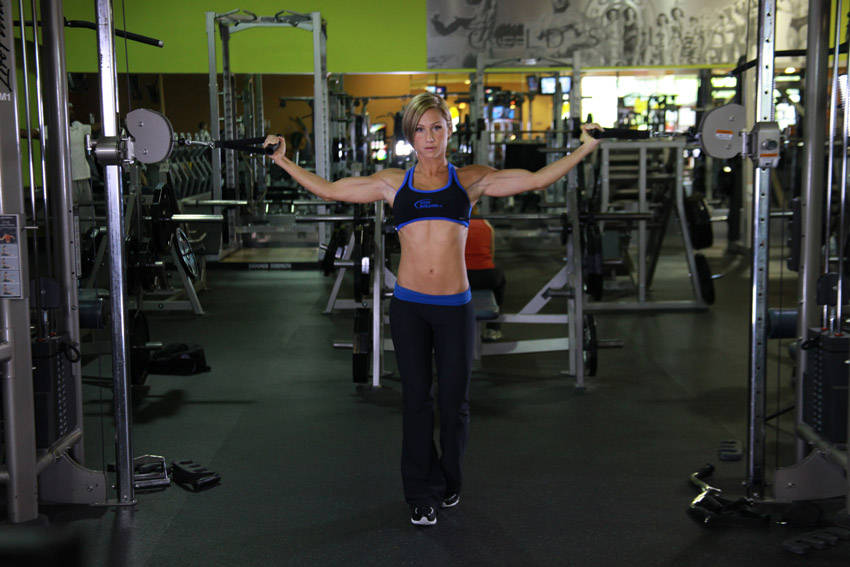 Overhead cable curl exercise guide and video for Floor underhand cable fly
