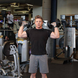 Standing Alternating Dumbbell Press