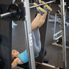 Smith machine hip thrust